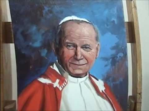 Saint John Paul II Portrait Painting - YouTube