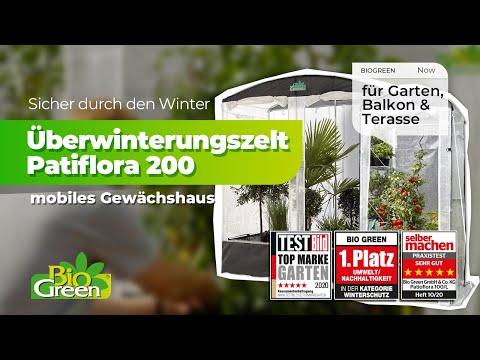 Bio Green Gewächshaus / Tomatenhaus Patioflora ... ideal auch für Kübelpflanzen Überwinterung