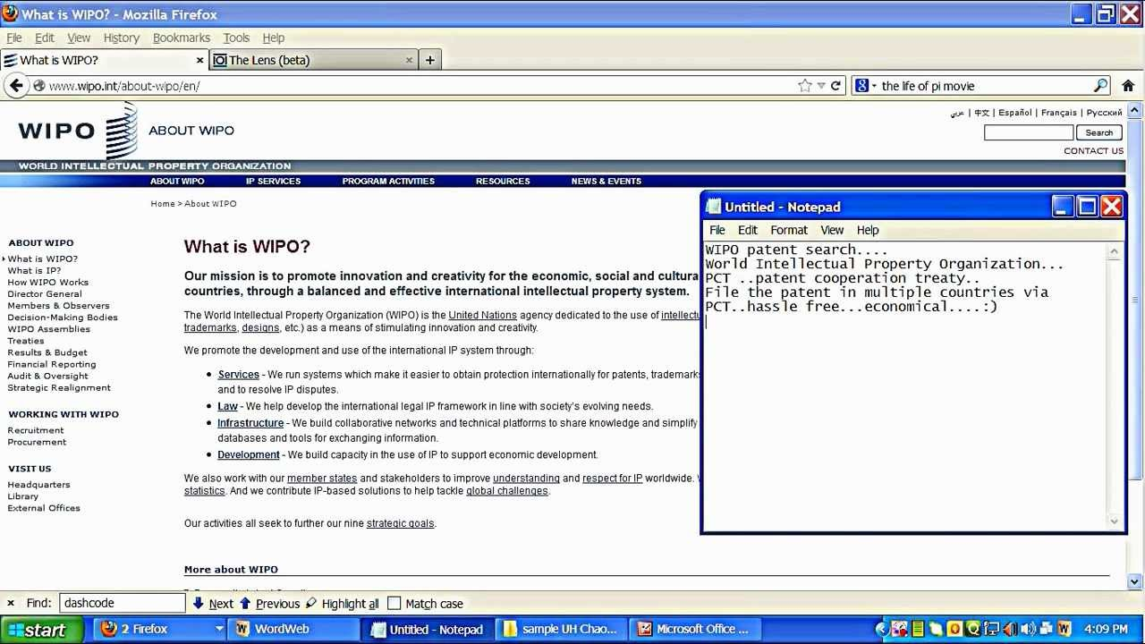 wipo database search