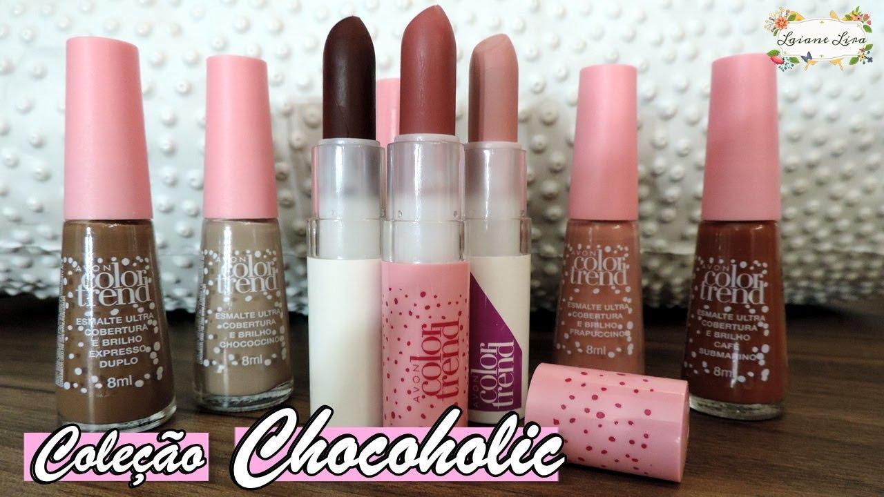 Resenha Coleção Color Trend Chocoholic Avon Laiane Lira Youtube