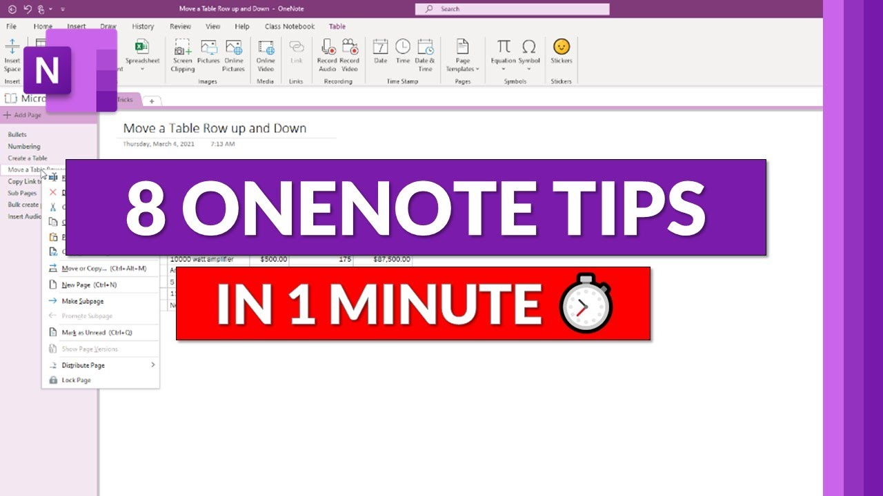 8 More Microsoft OneNote tips and tricks in 1 minute