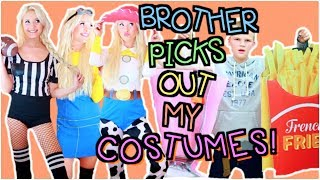 Brother buys my halloween costumes! shopping challenge 2017