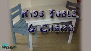 How To Make A Kids Table & Chairs