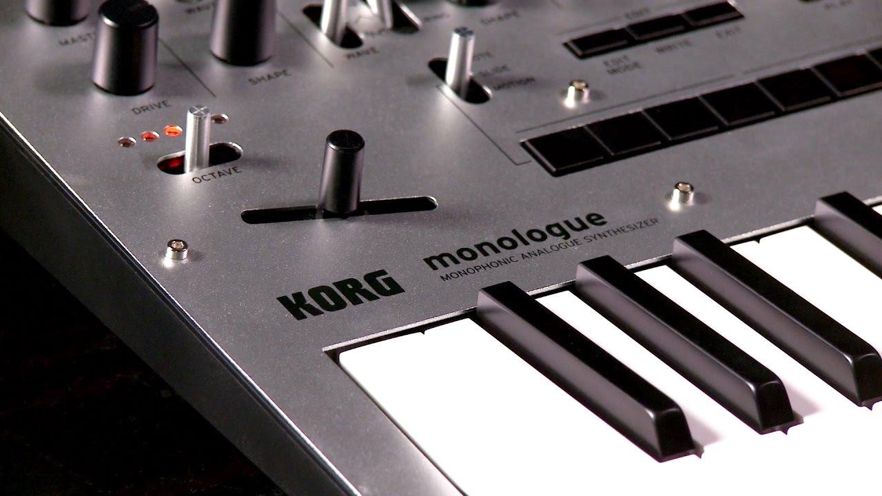 Korg monologue Monophonic Analog Synthesizer - YouTube