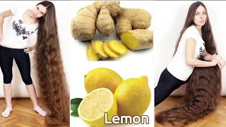 How to use ginger and lemon to grow hair 2 cm per day Very fast |||