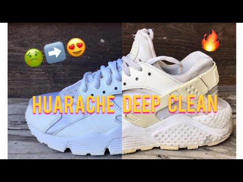 DEEP CLEAN: WHITE HUARACHES