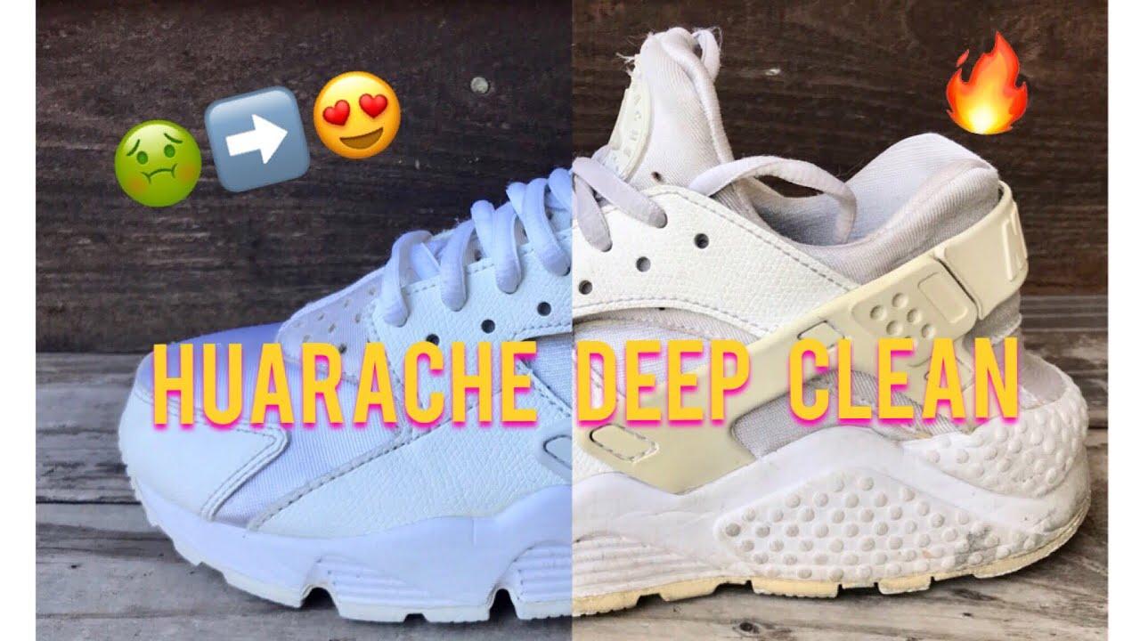 DEEP CLEAN: WHITE HUARACHES - YouTube