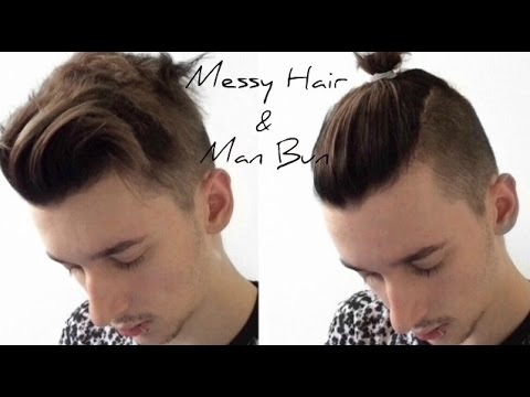 Street Fashion 101 Messy Hair Amp Man Bun Tutorial Youtube