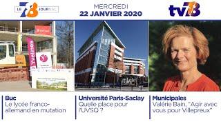7/8 Le Journal. Edition du mercredi 22 janvier 2020