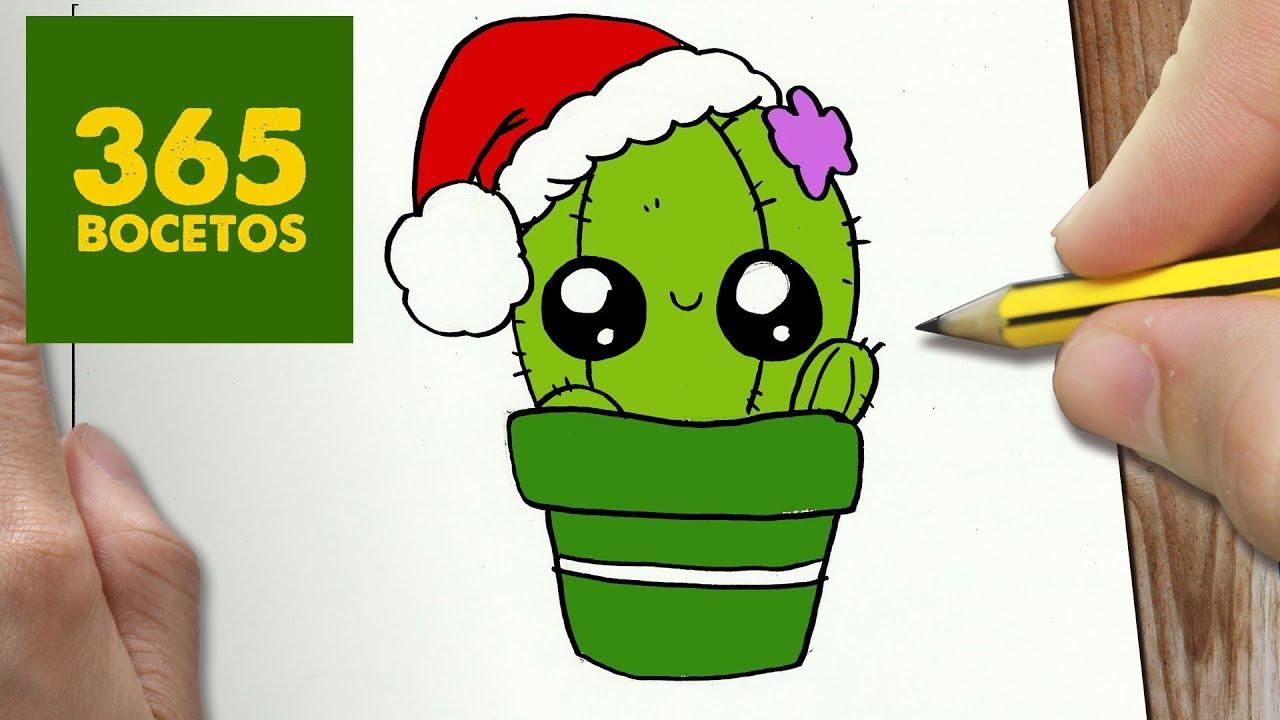 Como dibujar un cactus para navidad paso a paso dibujos for Cactus de navidad