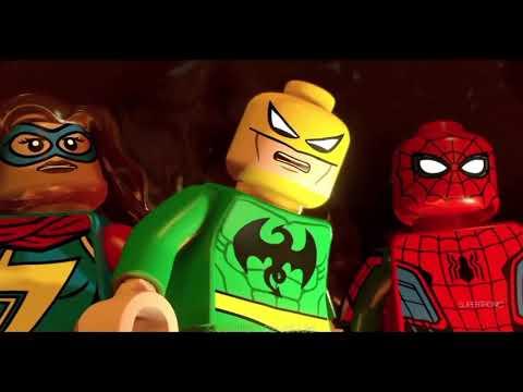 Lego Marvel Super Heroes 2  Spiderman Noir Best Funny  Movie Scenes
