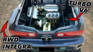 Rear Engine Integra DOMINATES v8's on the STREET!