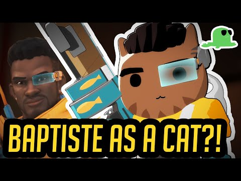 [NEW HERO] Baptiste as a CAT? - CATISTE - Overwatch Cats thumbnail