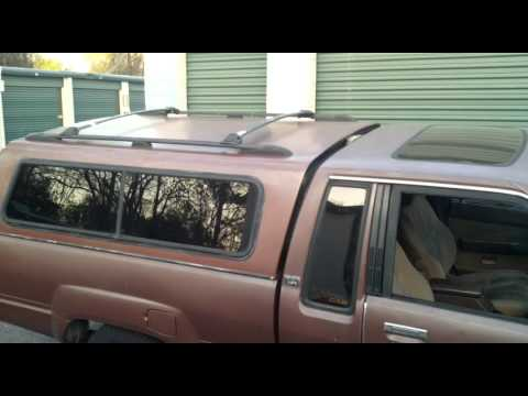 Camper topper shell Roof Rack Install Part 1 test fitting ...