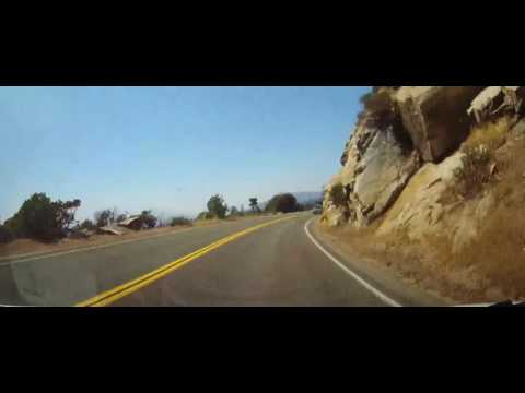 Driving from Sequoia National Park to Fresno, California