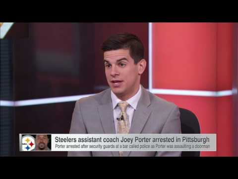 Steelers assistant coach Joey Porter arrested shortly after win