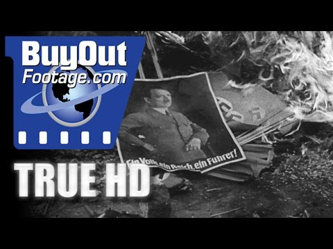 HD Historic Stock Footage Post WWII COLOGNE AFTER GERMAN DEFEAT