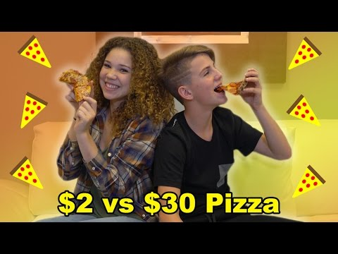 Thumbnail: $2 Pizza vs $30 Pizza! (MattyBRaps vs Madison Haschak)