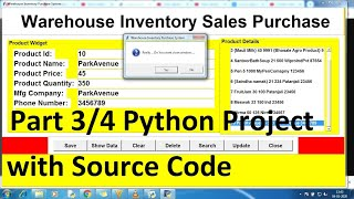 python projects for beginners with source code using Database | Python project | Python CRUD part 3