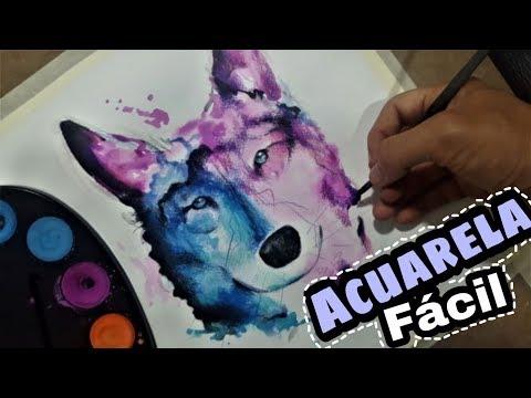 Como pintar un lobo con acuarelas f cil youtube - Como pintar un radiador ...