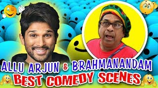 Allu Arjun & Brahmanandam Best Comedy Scenes | South Indian Hindi Dubbed Best Comedy Scenes