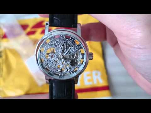 Chinese Hollow-out Dial Relief Mechanical Watch for Men