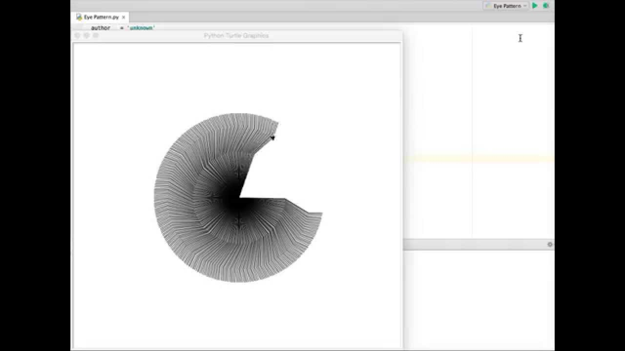 Python turtle creation eye pattern youtube ccuart Gallery