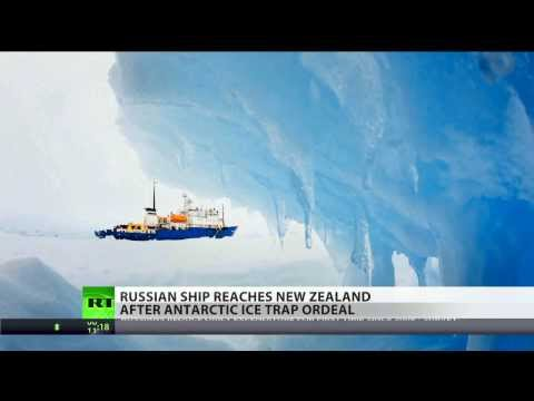 Ice trap broken: ship reaches shore after 3 weeks in Antarctic captivity