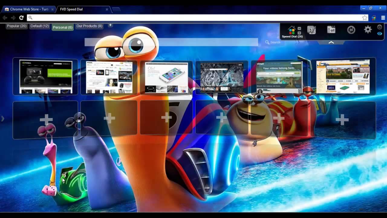 Google chrome themes video games - Turbo Animation Movie Chrome Theme And Wallpaper