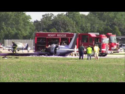 Oshkosh Crash -  Piper Malibu - Medivac Helicopter - Great Response team