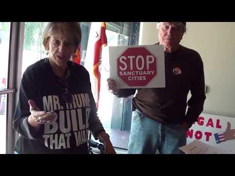 Citizen @ Senator Kevin de Leon's Office Oppose Sanctuary State Bill