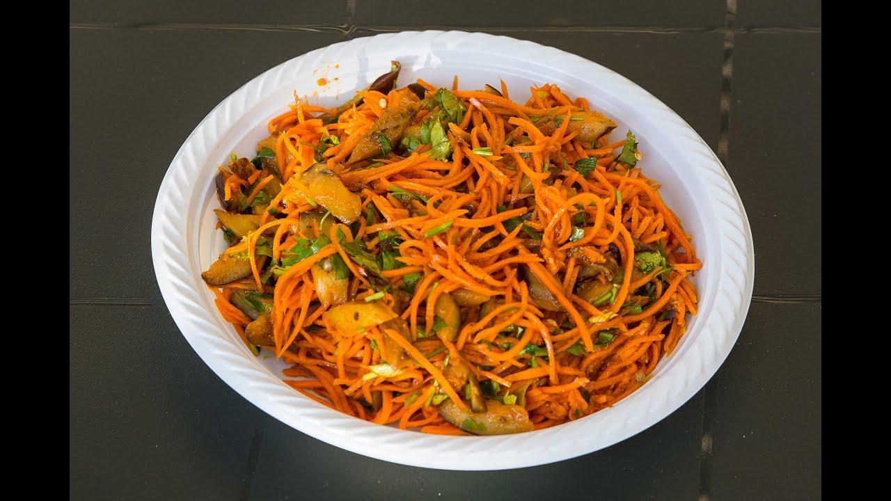 Баклажаны с морковкой по корейски