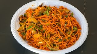 Морковь с баклажанами по корейски
