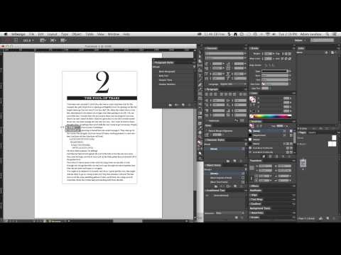 Basic Typesetting and Creating Styles in Adobe InDesign
