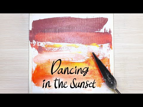 Acrylic Painting / Landscape / #22 Dancing In The Sunset / Relax