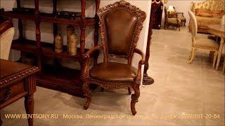 """Видео обзор: Кресло-стул """"Феникс В"""" массив дерева, натуральная кожа"""