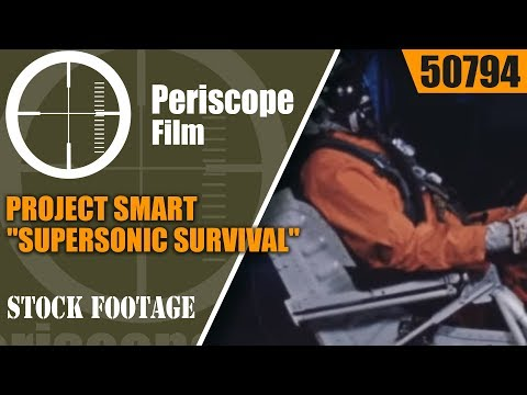 """PROJECT SMART """"SUPERSONIC SURVIVAL""""  U.S. AIR FORCE SLED TRACK at HURRICANE MESA  50794"""