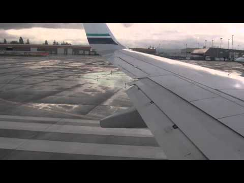 Alaska 737-800 taxi and takeoff runway 16L