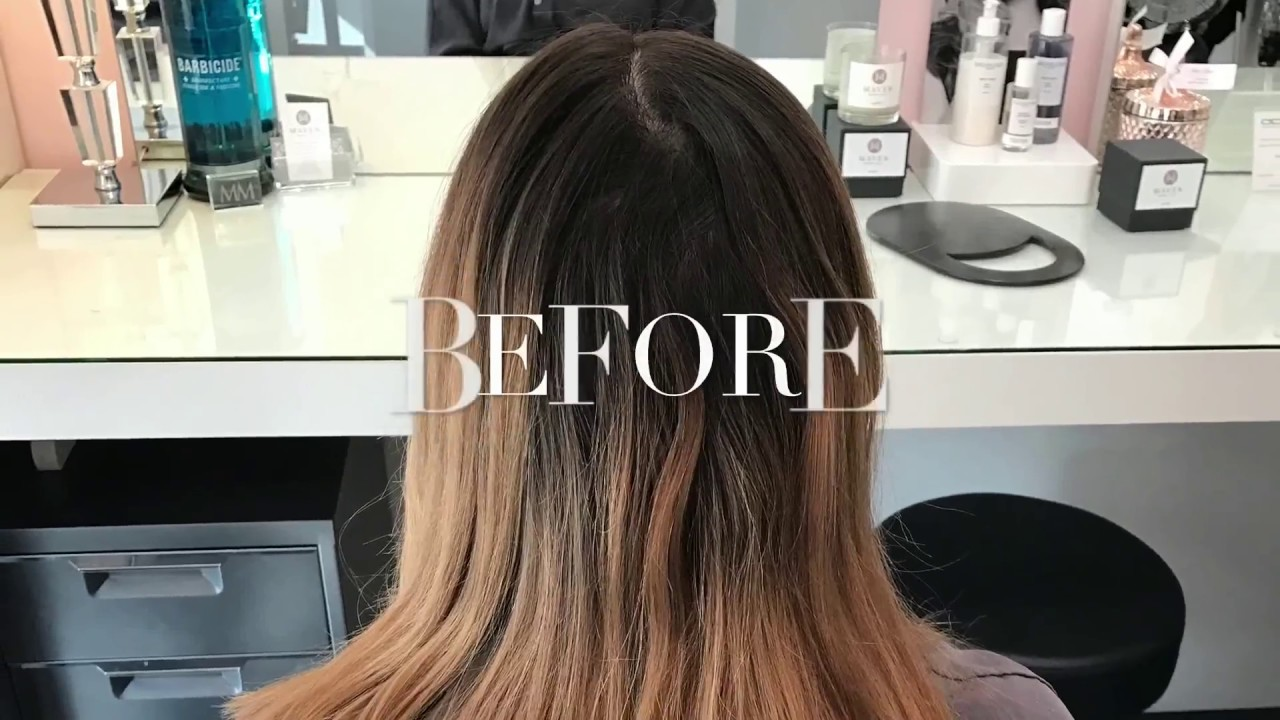 Two Step Highlight Perfect Balayage Hair Color Blend Colorist Tutorial
