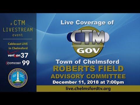 Chelmsford Roberts Field Advisory  Dec 11, 2018