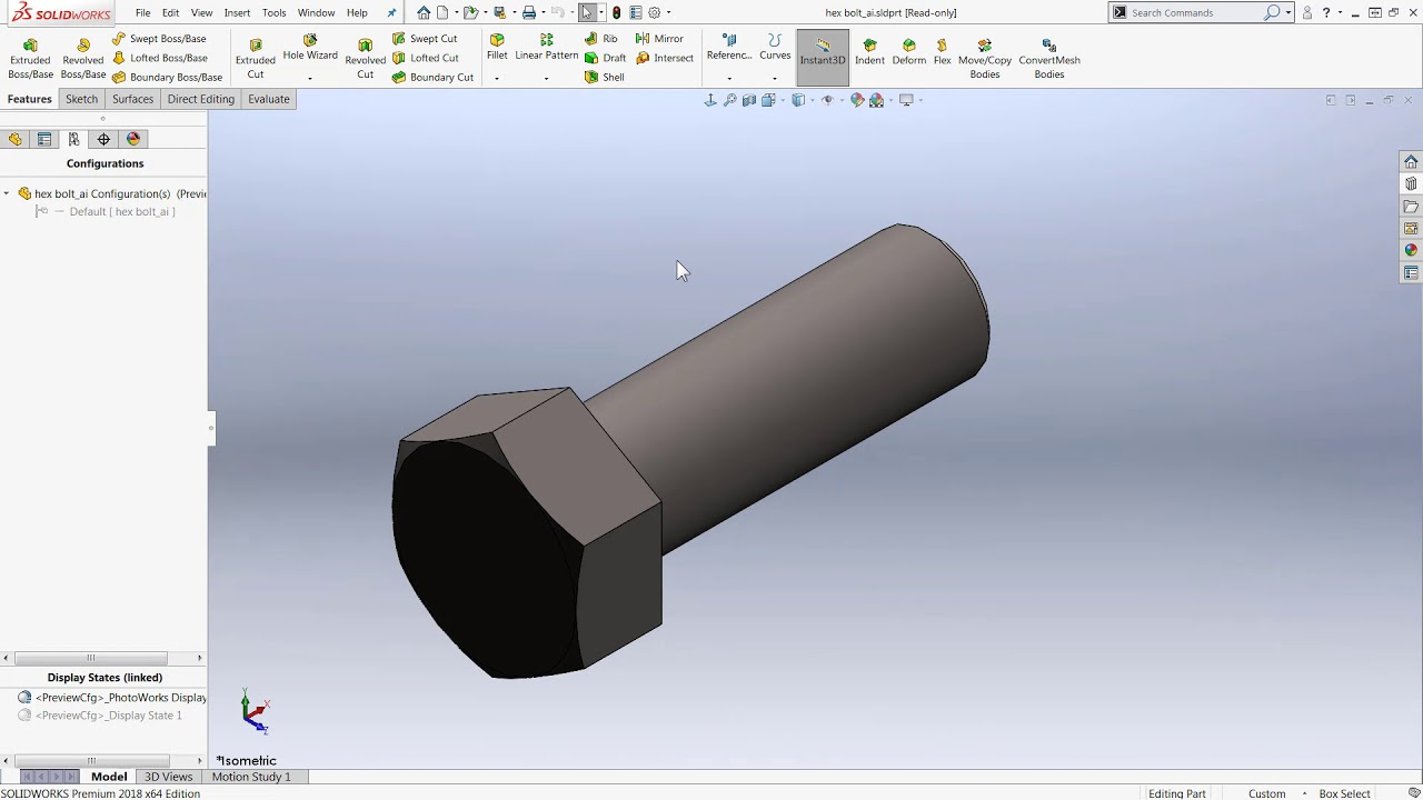 SOLIDWORKS: Fixing Incorrectly Sized Toolbox Hardware