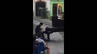 Piano Busking in Italy Street