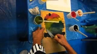 簡単鏝絵 型紙を使った鏝絵作り