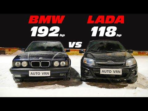 Что может БМВ Е34 525 против Гранты Спорт!!! ГОНКА. Granta Sport Vs BMW E34 525