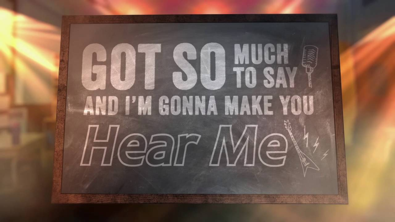 If Only You Would Listen Lyric Video Readalong School Of Rock