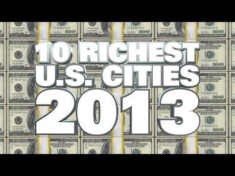 Top 10 Richest Cities USA 2013