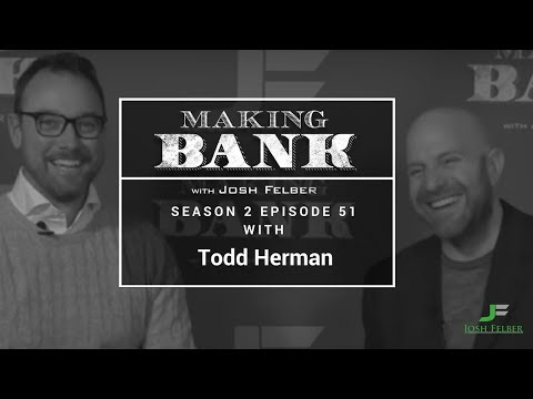 High Performance Strategies for Pro Athletes & Top Entrepreneurs with Todd Herman: MakingBank S2E51