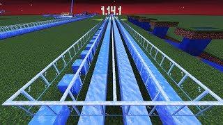 мАЙНКРАФТ 1.14.1 Ледяная дорога  Icy road Minecraft  Hyperloop