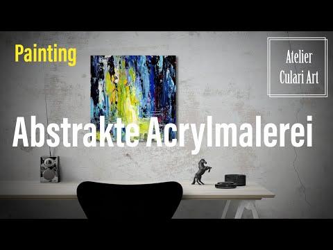 Einfache Abstrakte Malerei Einfach Nur Mit Farben Rumspielen