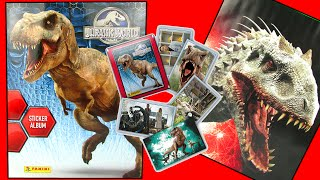 JURASSIC WORLD Movie Dinosaurs INDOMINUS REX vs T-REX Stickers, 3D Specials? SURPRISE Opening